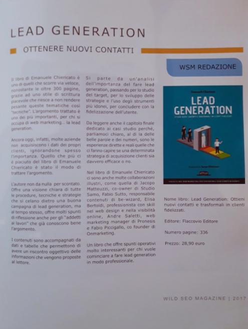 Libro Lead Generation Recensione Wild SEO Magazine