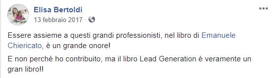 Recensione libro Lead Generation Elisa Bertoldi