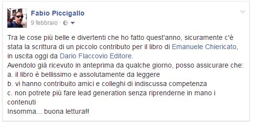 Recensione libro Lead Generation Fabio