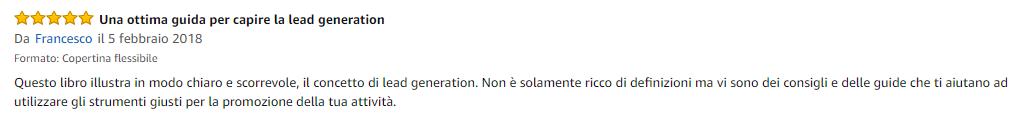 Recensione libro Lead Generation Francesco