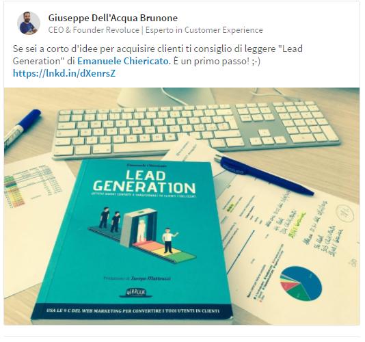 Recensione libro Lead Generation Giuseppe Brunone