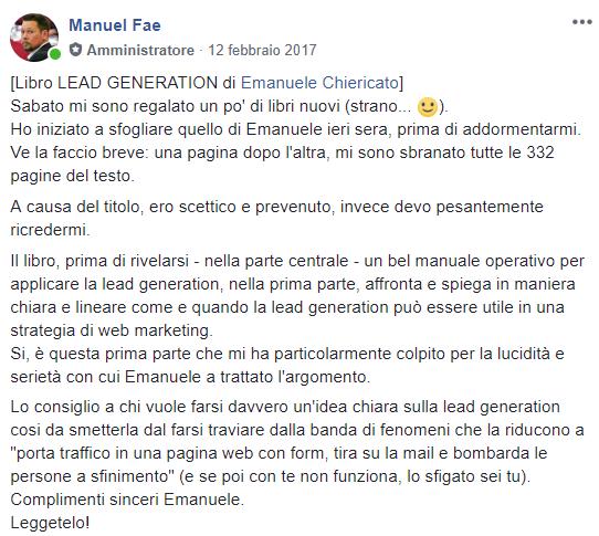 Recensione libro Lead Generation Manuel Fae