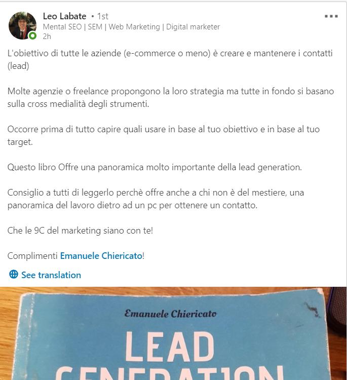 Recensione Libro Lead Generation Leo