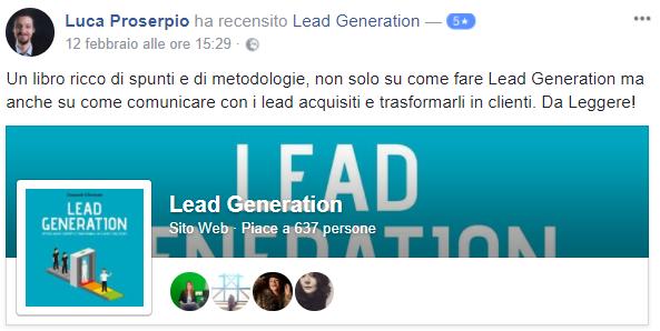 Recensione Libro Lead Generation Luca
