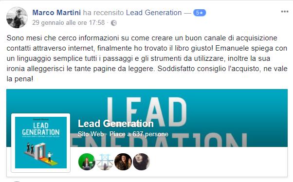 Recensione Libro Lead Generation Marco