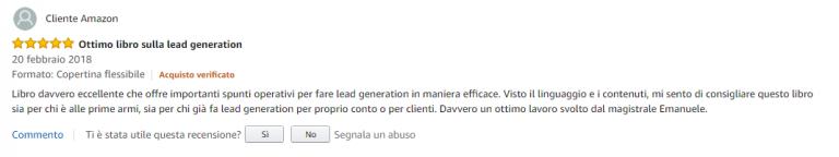 Recensione Libro Lead Generation Stefano